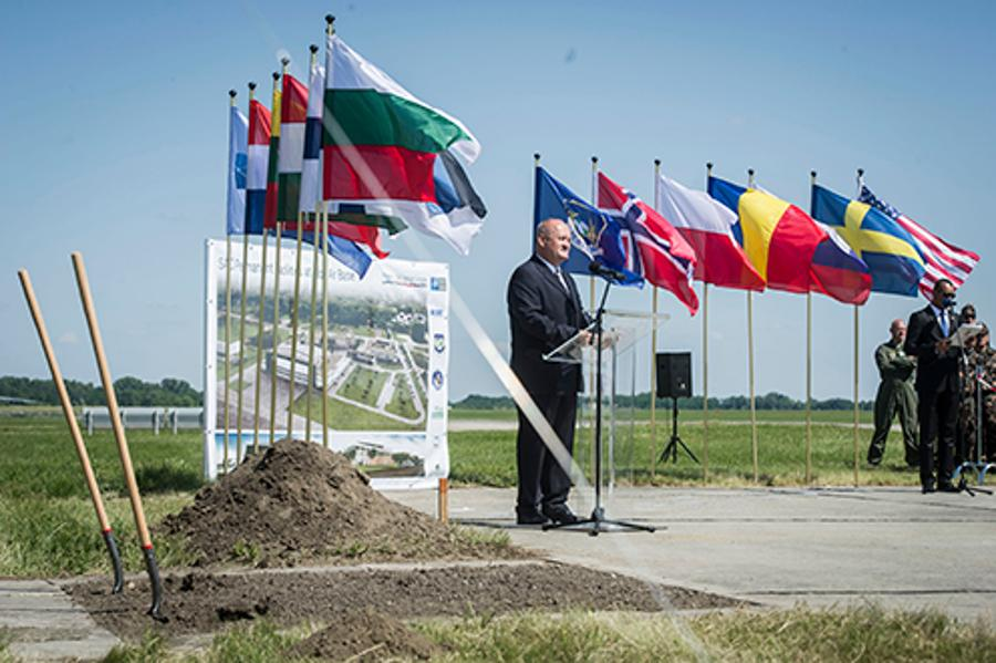 Cornerstone Of New Heavy Airlift Wing Hangar Complex Laid In Pápa, Hungary