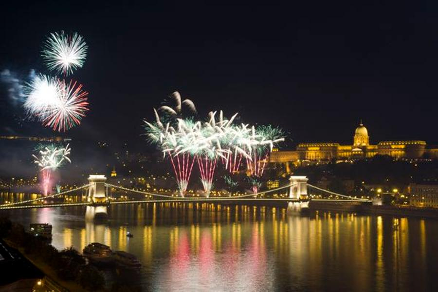 Ceremonial Fireworks In Budapest, 20 August