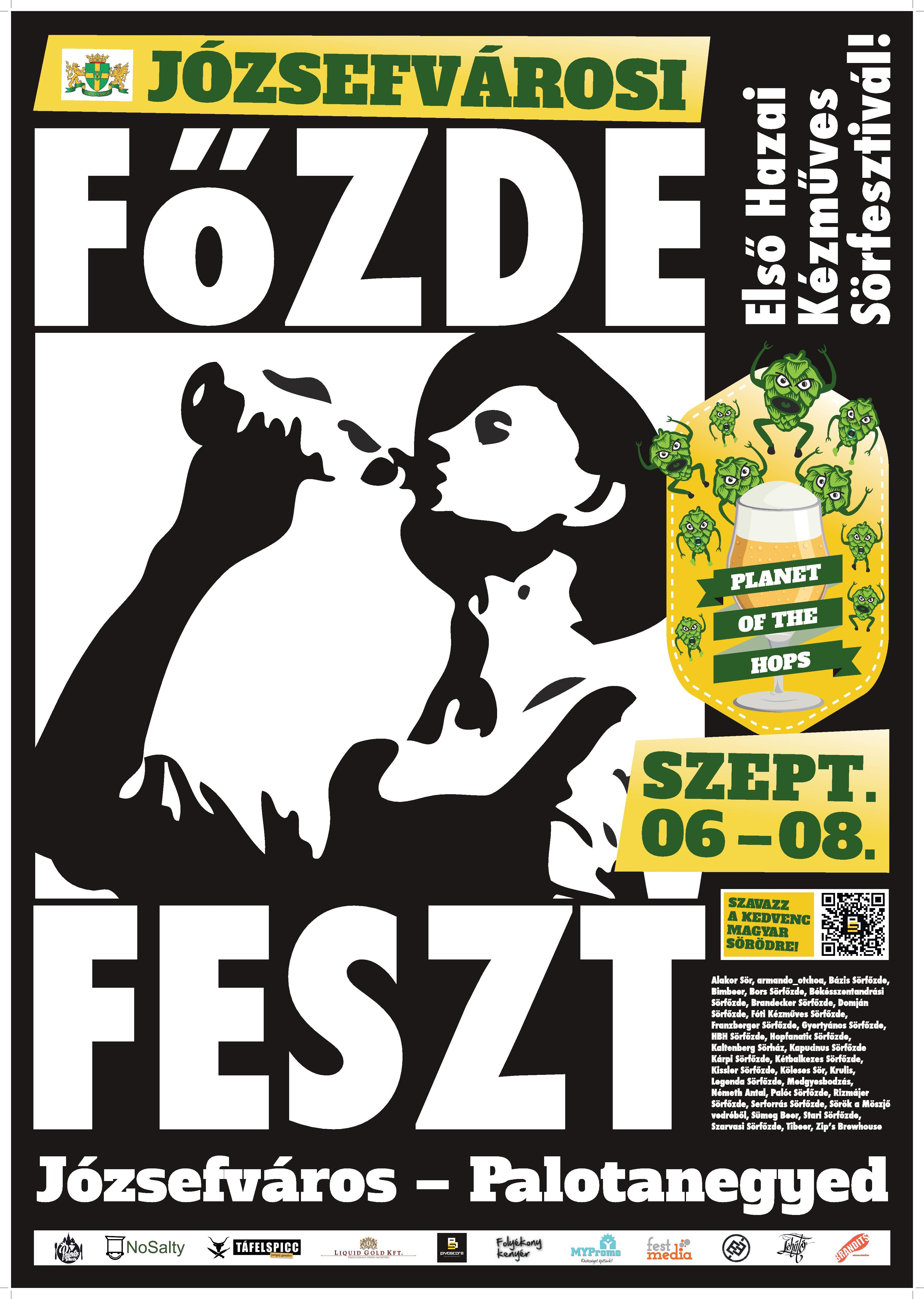 Invitation: Főzdefeszt  - Craft-Beer Festival, Budapest, 6 - 8 September