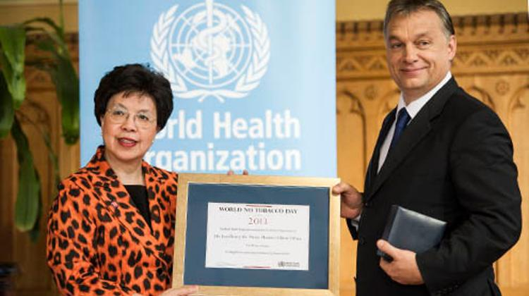 Hungary's PM Receives WHO Award For Anti-Smoking Legislation
