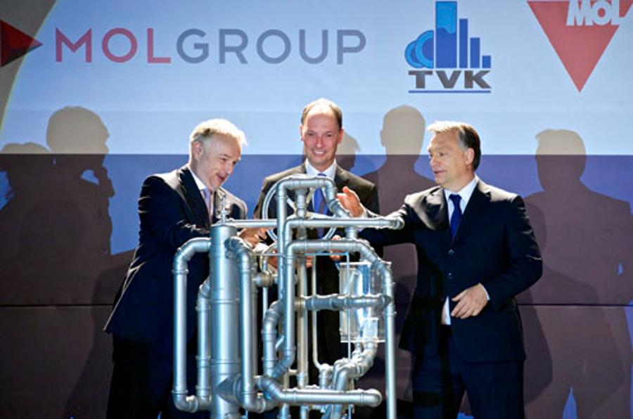 Hungary's PM  Attends Foundation Of New MOL Plant