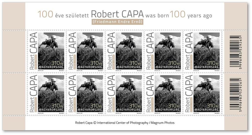 Robert Capa Stamps Available In Hungary