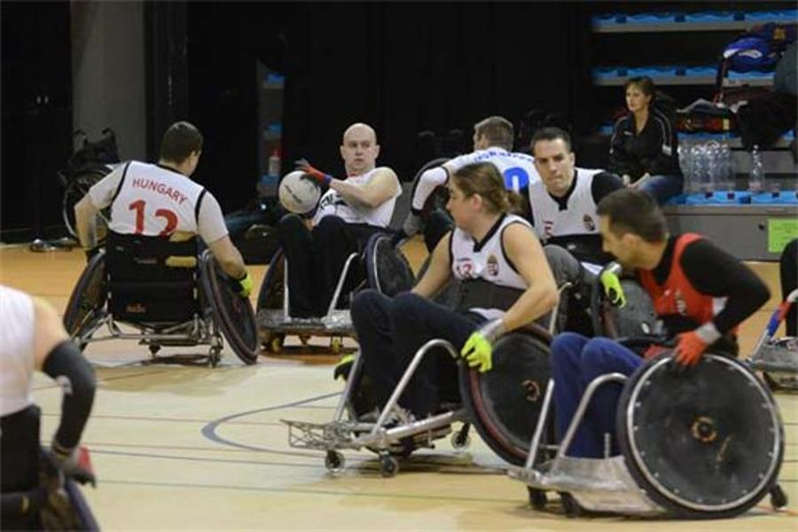 See What Happened @ International Wheelchair Rugby Tournament In Budapest