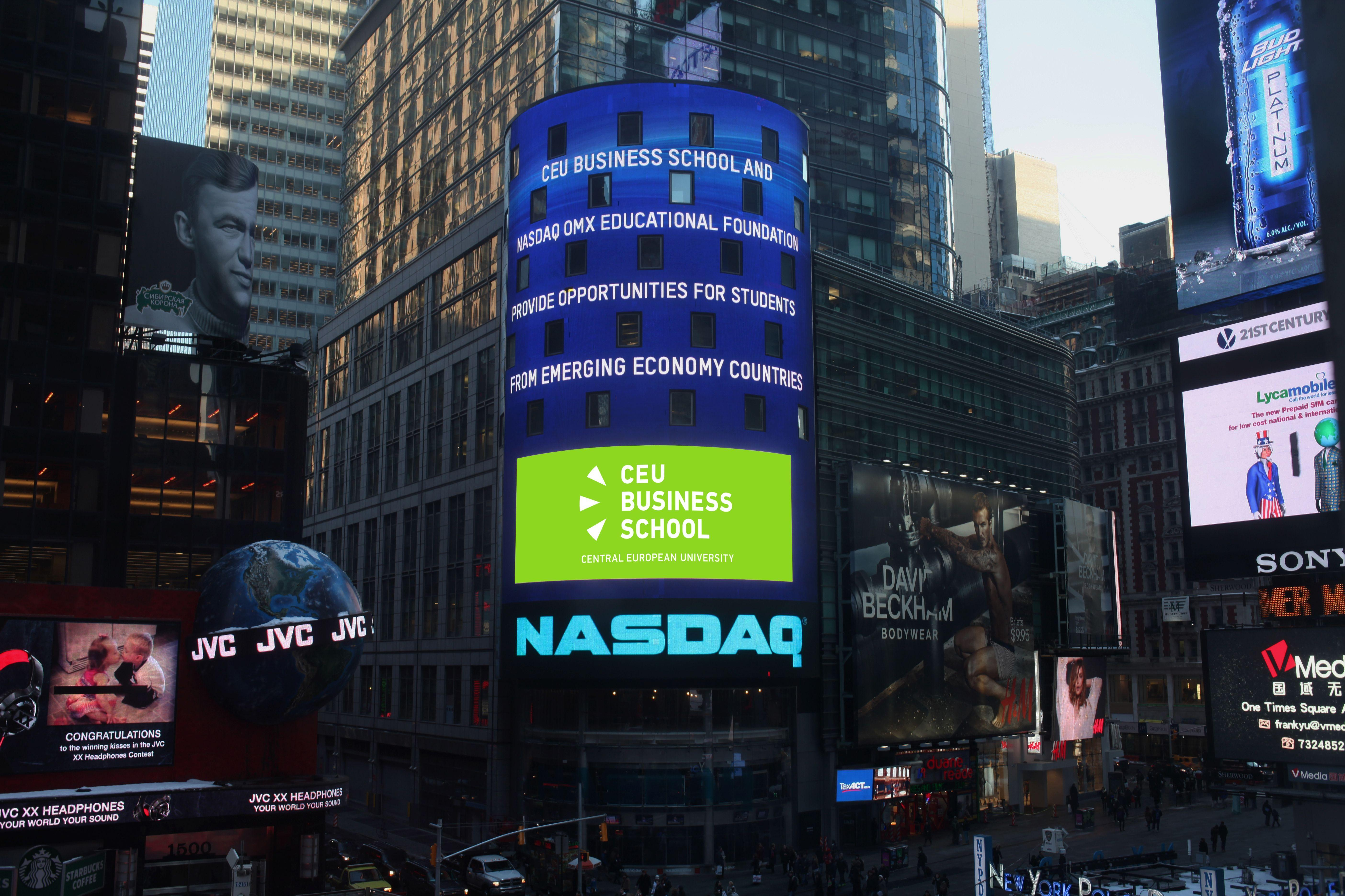 NASDAQ OMX Educational Foundation Awards Grant To CEU Business School Budapest