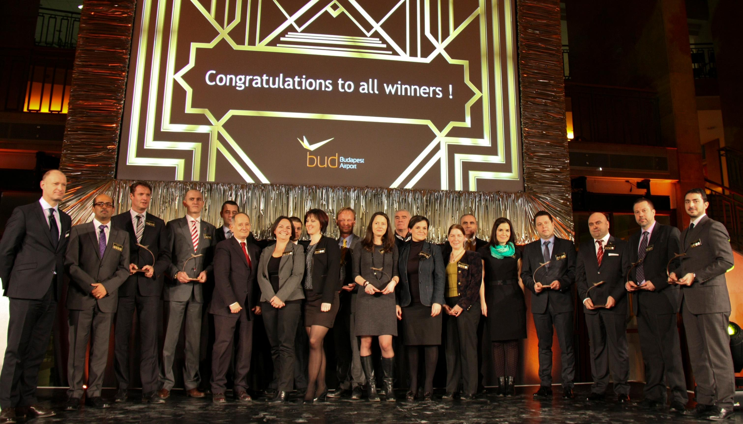 Award Winners At 7th Annual Aviation Awards Gala In Budapest