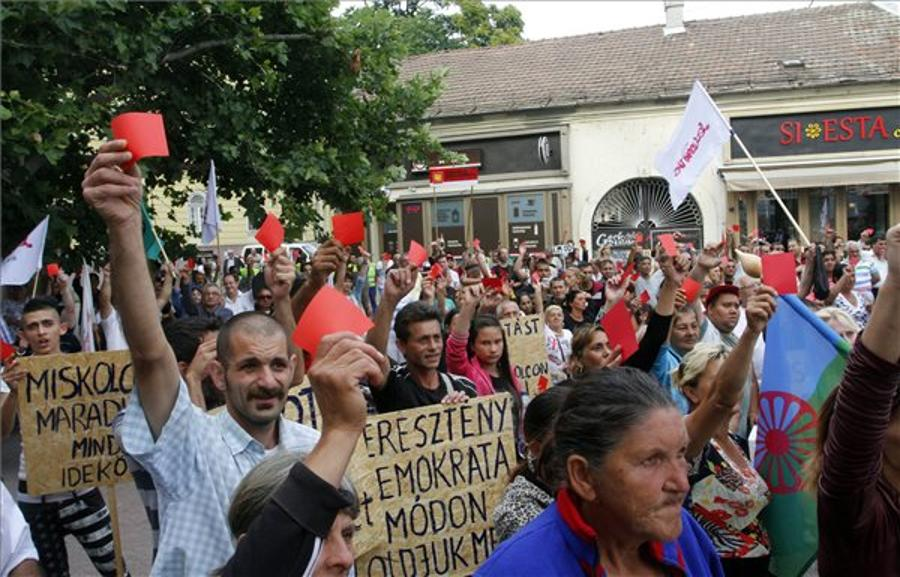 Roma Council In NE Hungary Hold Demo Against Decree On Slums