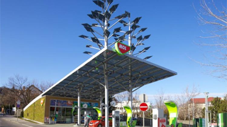 Solar-Powered Mol Station In Budapest Wins Environmental Prize