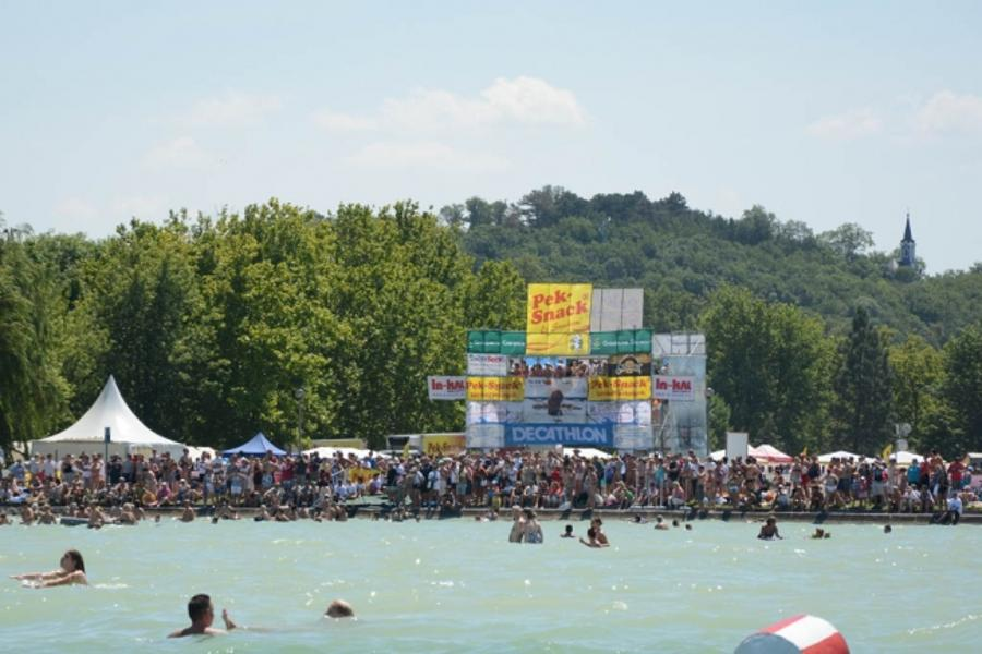 Hungary's Balaton Cross Swim 2014