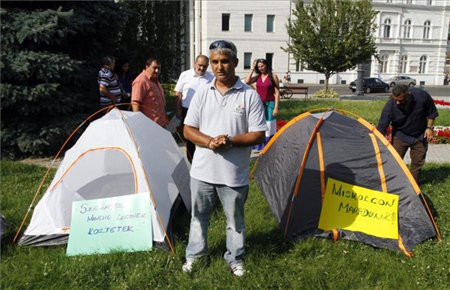 Roma Protest Against Eviction In Miskolc, Hungary