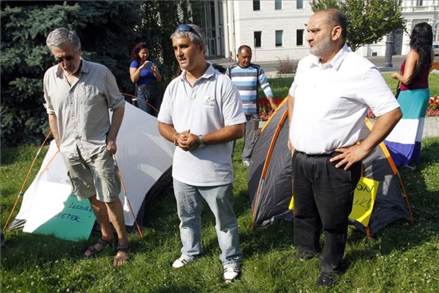 Residents Evicted In Hungarian City Miskolc Slum Area