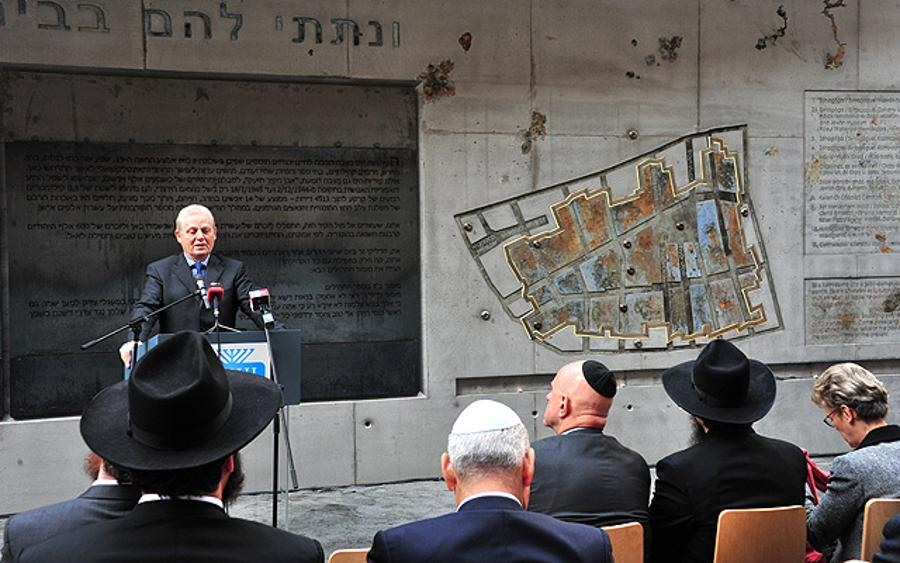 Inauguration Of  Memorial Wall Remembering Ghetto In Budapest