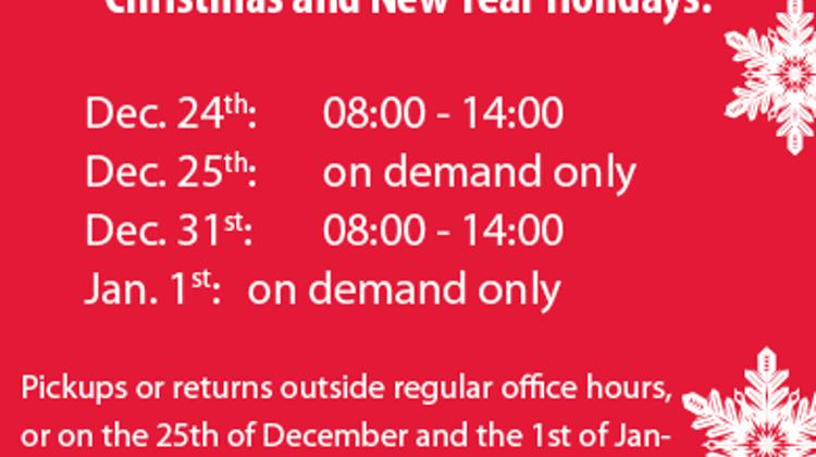 Important Information: Holiday Opening Hours @ Fox Autorent