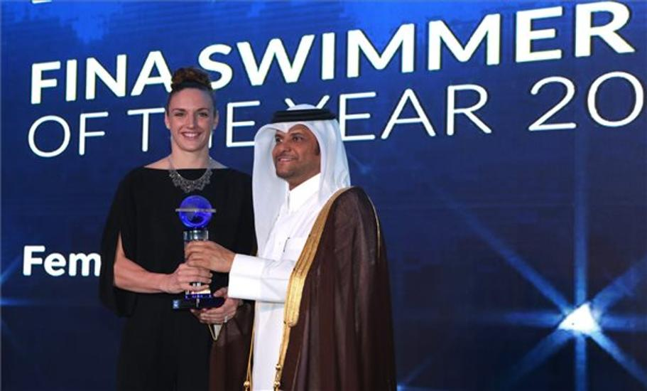 FINA Gives Top Award To Hungarian Swimmer Katinka Hosszú