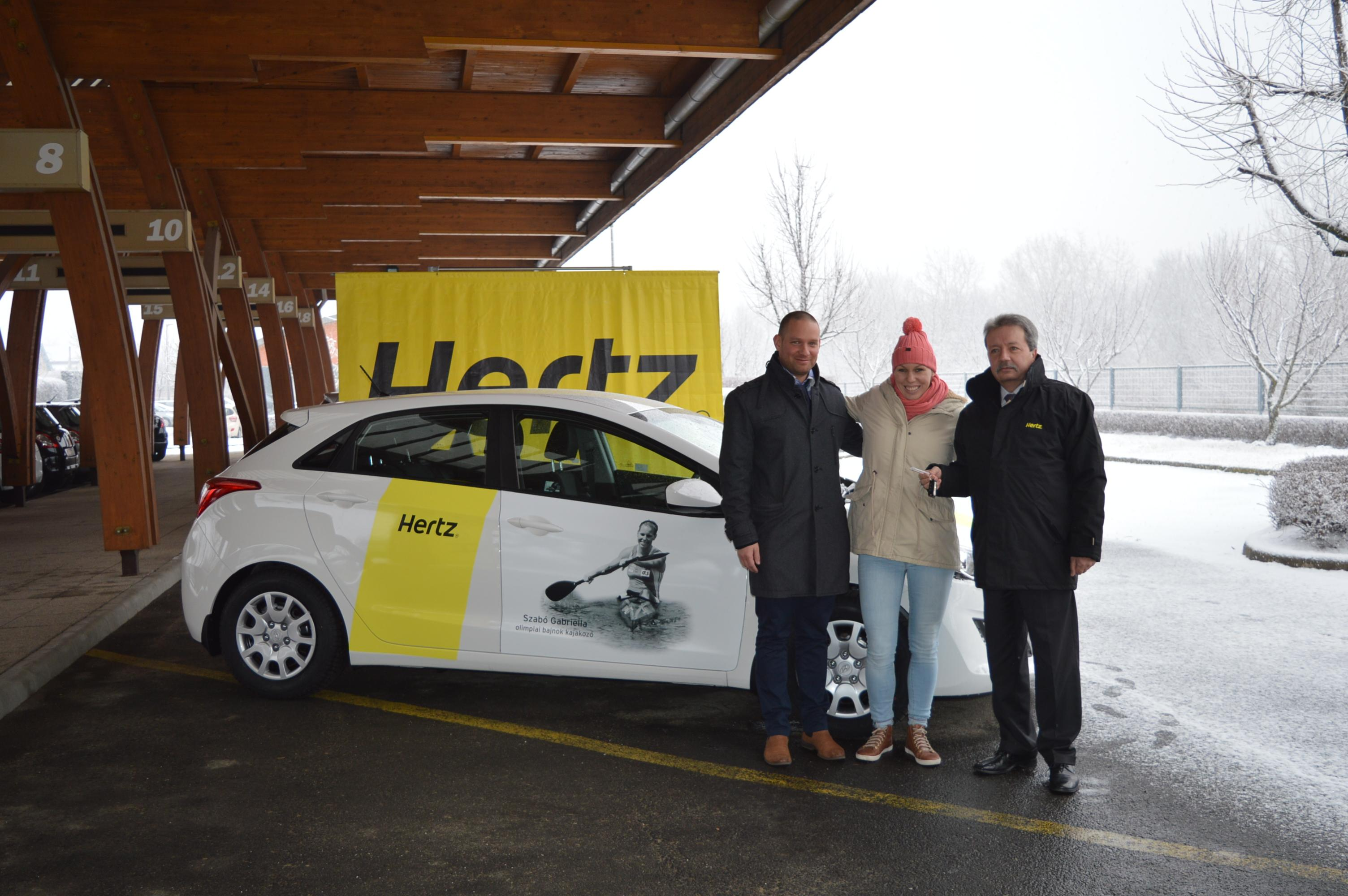 Olympic Champion, Gabriella Szabó Recieves Gift Of A New Hyundai Car From Hertz