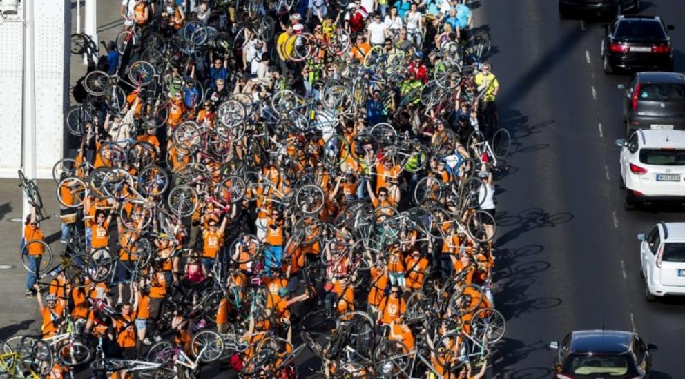 "Tens Of Thousands Of Cyclists Turn Out At ""I Bike Budapest"" Procession"