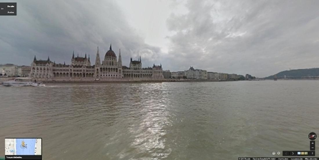 Google Street View Captures Budapest As Seen From Danube