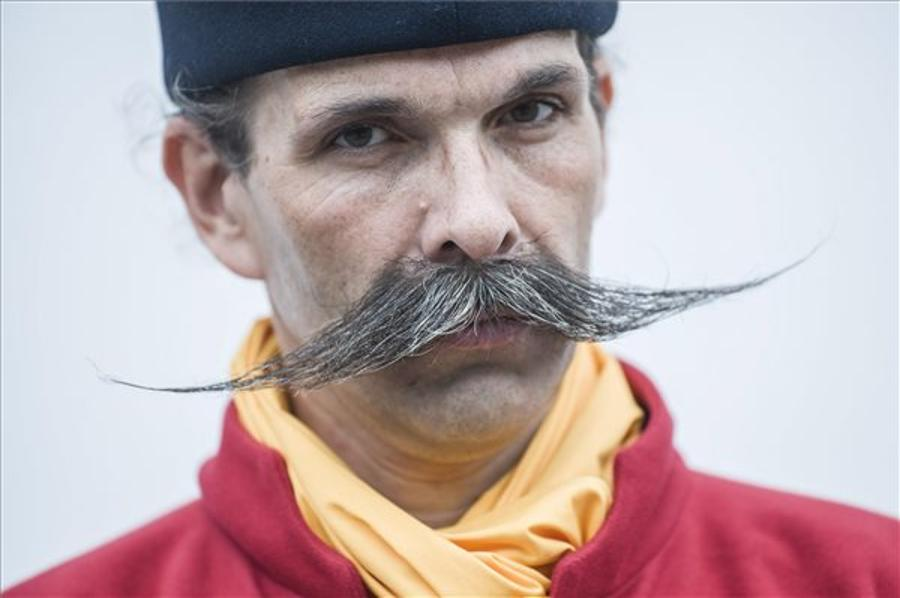 """Moustache King"" Elected At Festival On Hungary's Great Plain"