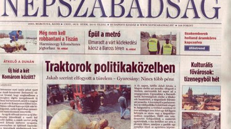 Hungarian Daily Népszabadság Editor-In-Chief Resigns Over Accident Leading To Death