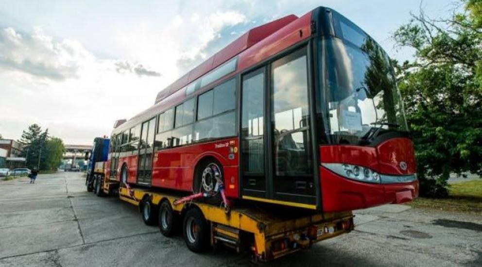 First Of Budapest's New Trolley Bus Fleet Arrives To The Capital