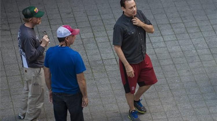 Photo Article: Tom Hanks Snapped Shooting In Budapest