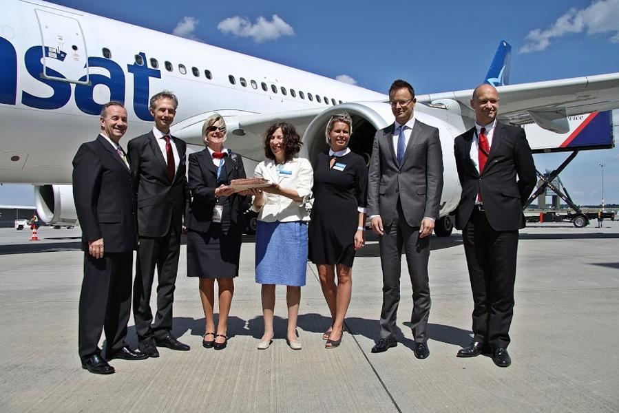 Air Transat Inaugurated First Budapest Toronto Via Montreal Flight