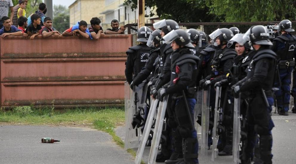 Refugee Camp Sealed By Hungarian Police After Migrant Vandalism