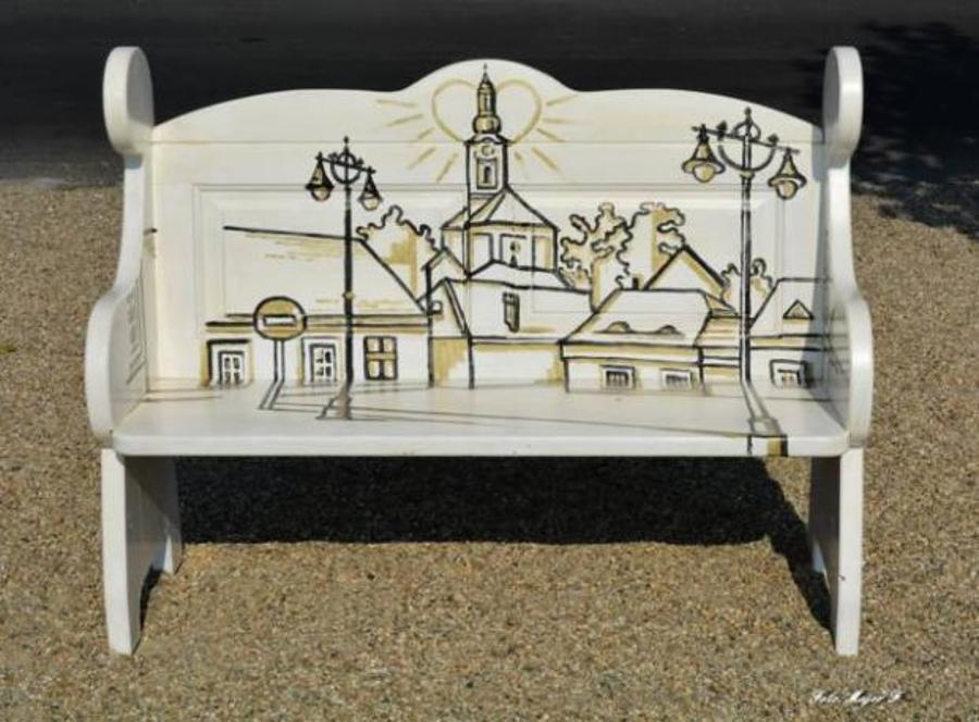 Hungary's Szentendre Gets Painted Benches On Riverside Promenade
