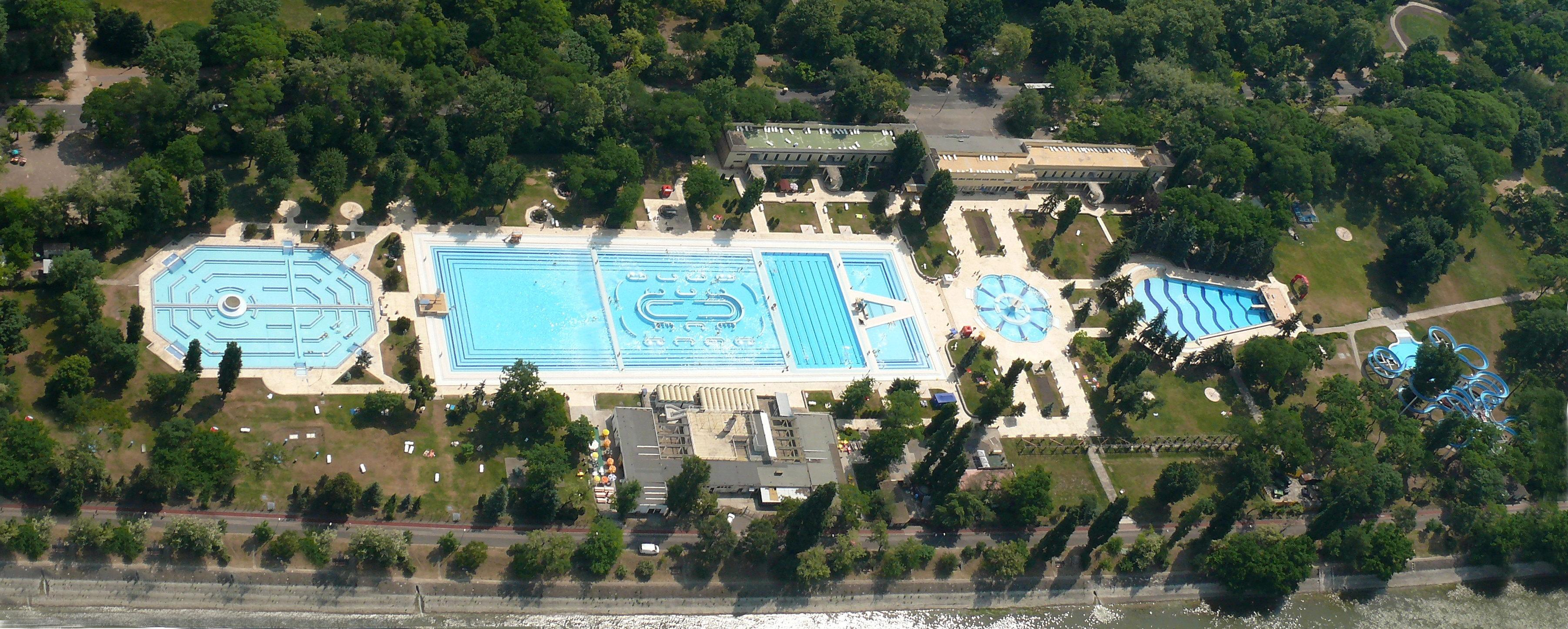 Swimming Complex On Margaret Island in Budapest Under Renovation