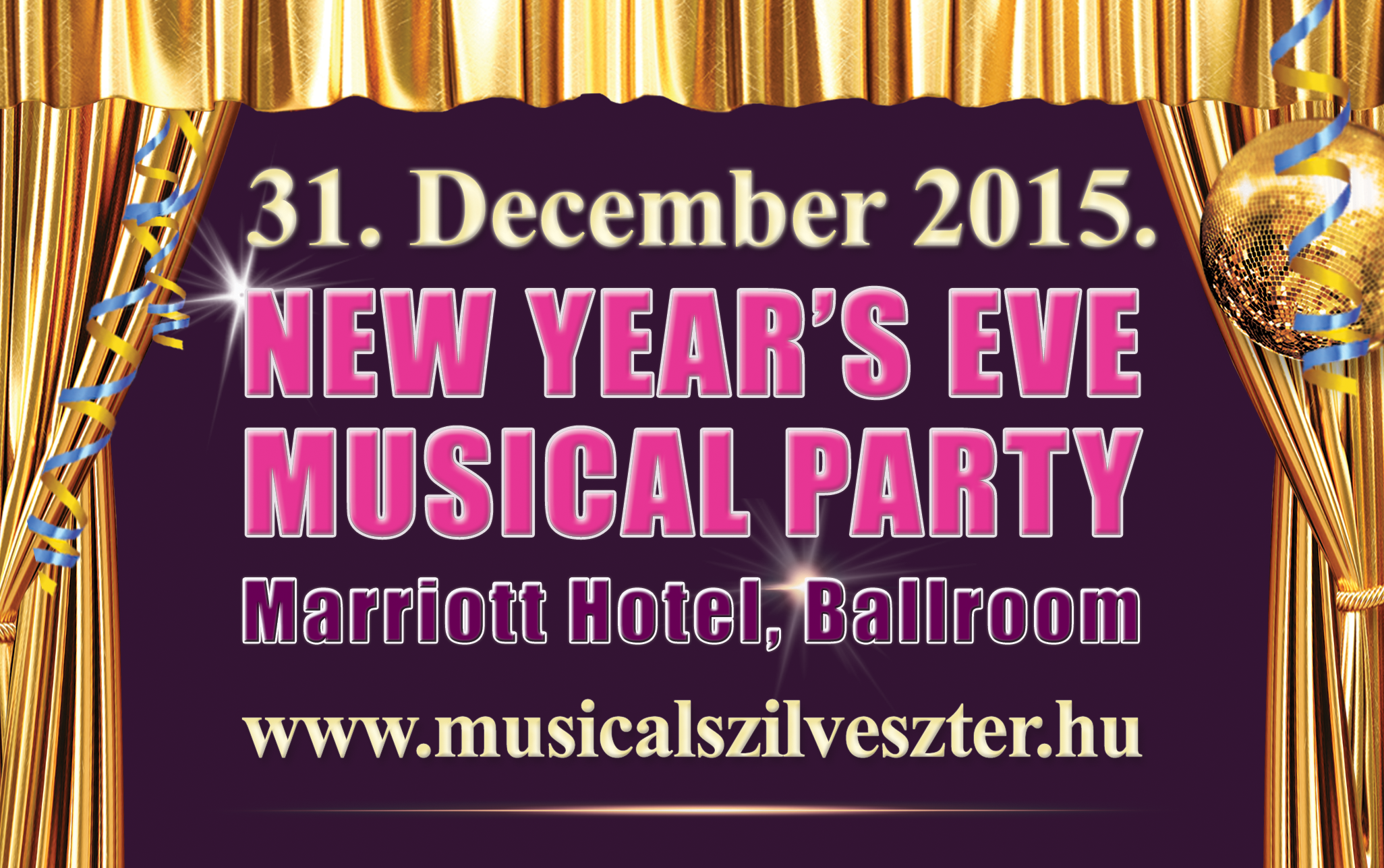 New Year's Eve Musical Party, Marriott Budapest Ballroom
