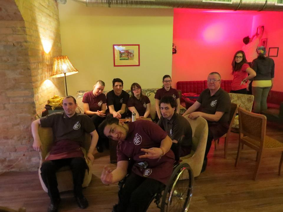 New Café In Budapest Run By Physically Handicapped