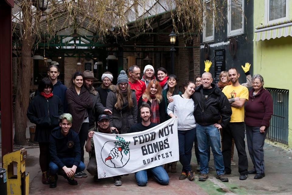 Food Not Bombs Budapest: 'Food Is A Right' Initiative, 27 February