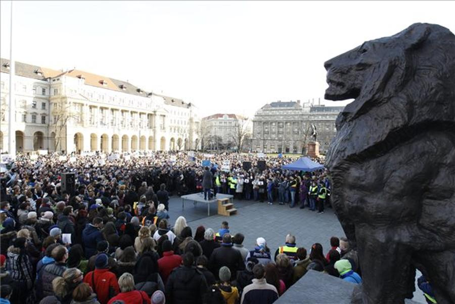 Thousands Demonstrate Against Animal Cruelty In Budapest