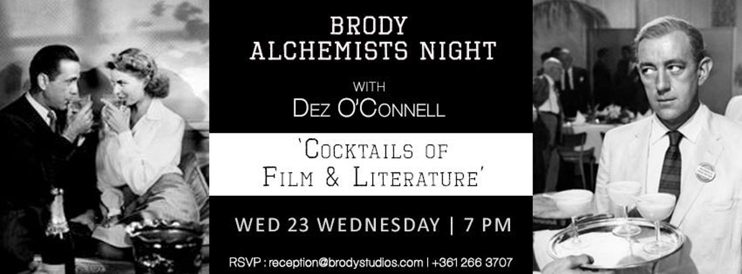 'Cocktails Of Film &  Literature', Brody Studios, 23 March