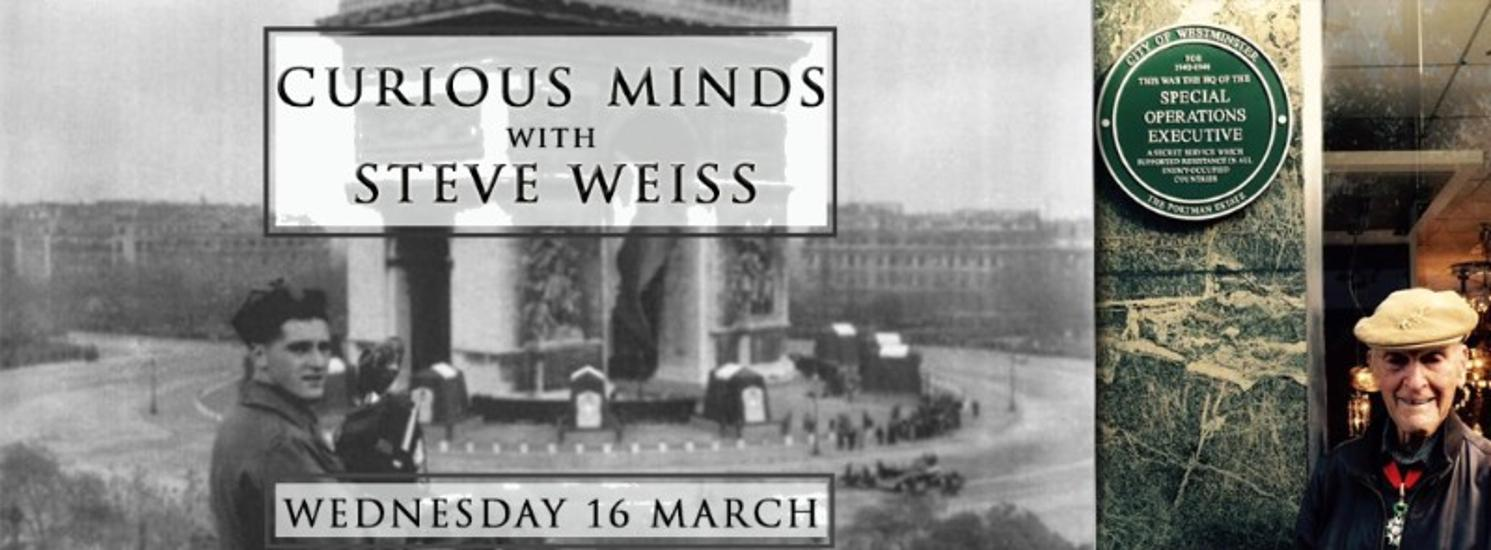 Curious Minds With Steve Weiss, Brody Studios, 16 March