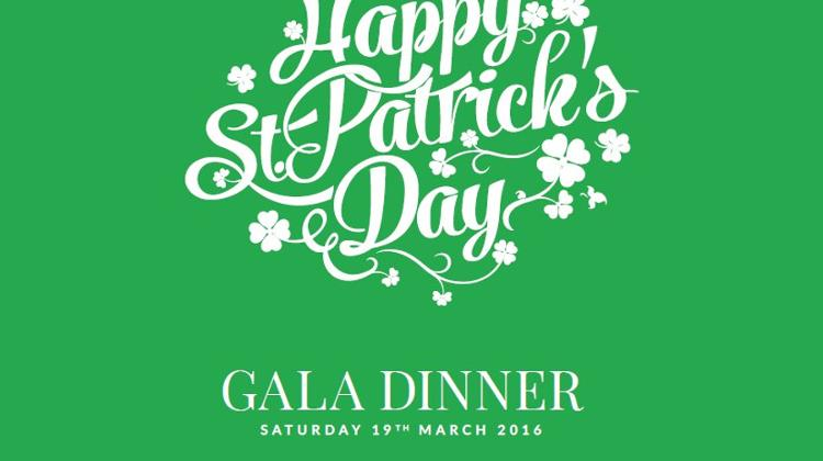 St Patrick's Day Gala Dinner In Budapest, 19 March