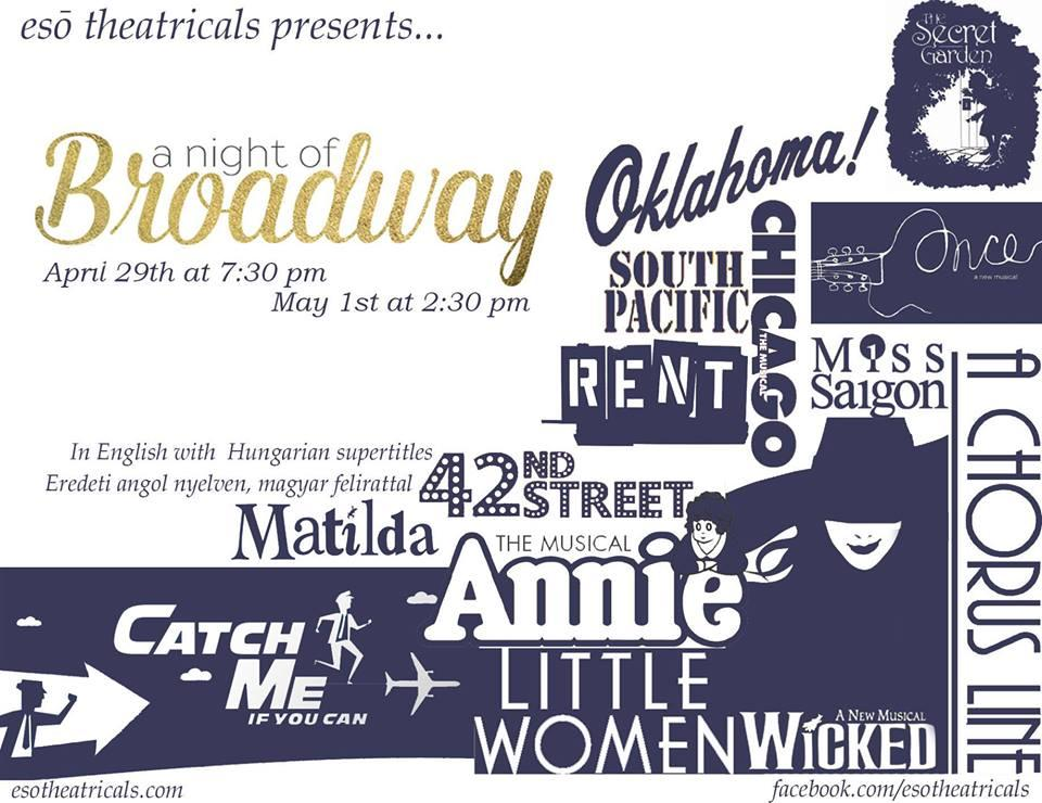 'A Night Of Broadway', IBS Stage Budapest, 29 April