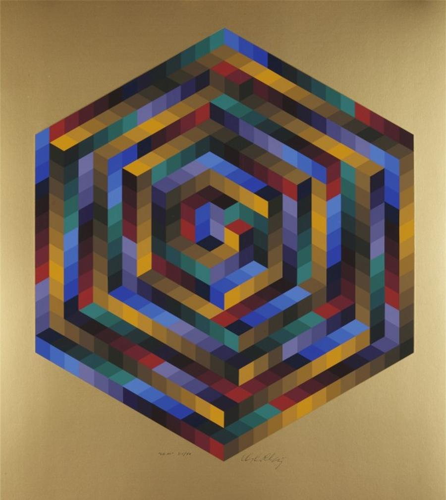 Budapest French Institute Shows Iconic Op Art Artist Victor Vasarely Collection