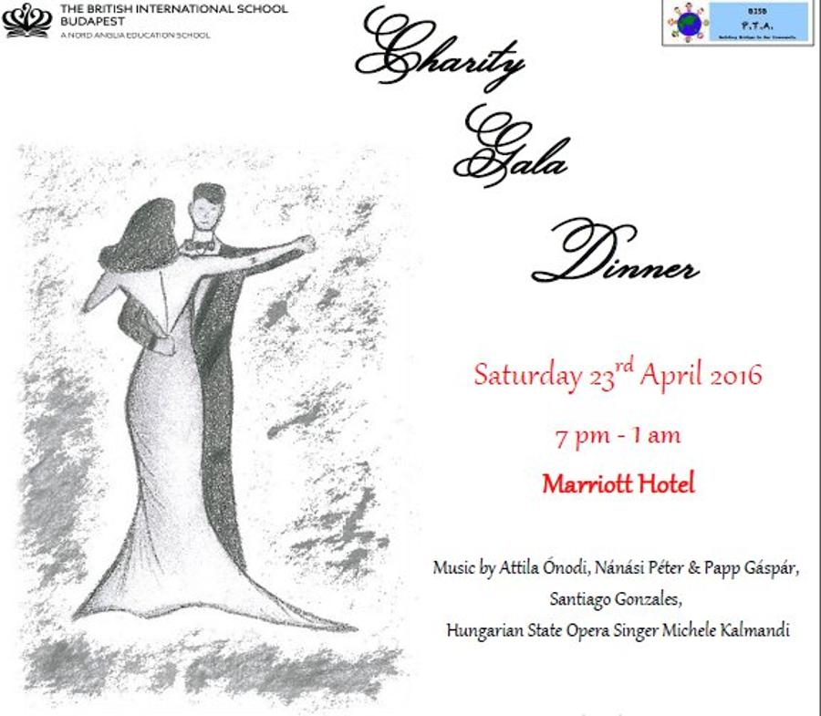 Invitation: The British International School's Charity Gala Dinner, 23 April