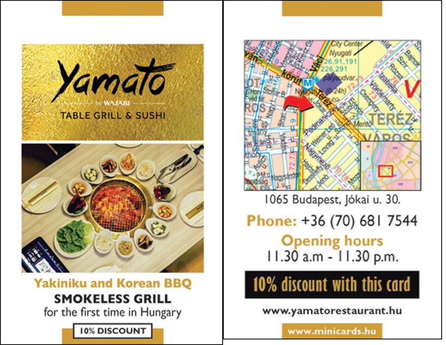 10% Discount At Two Japanese Restaurants With MINICARDS