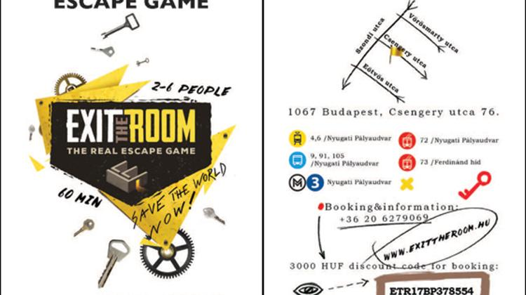 3.000 HUF Discount At 'Exit Room' Escape Game