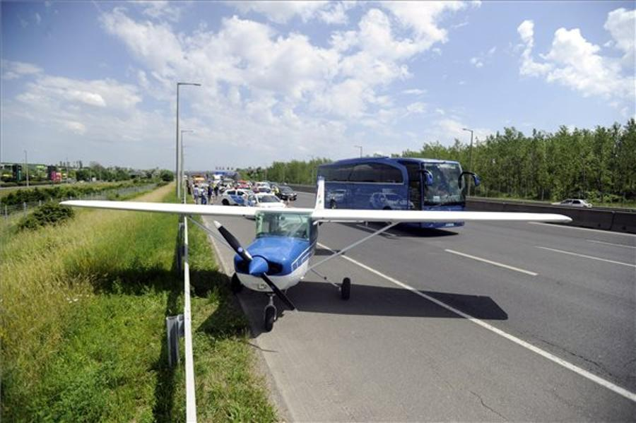 Video: Plane Landed On Hungarian Highway