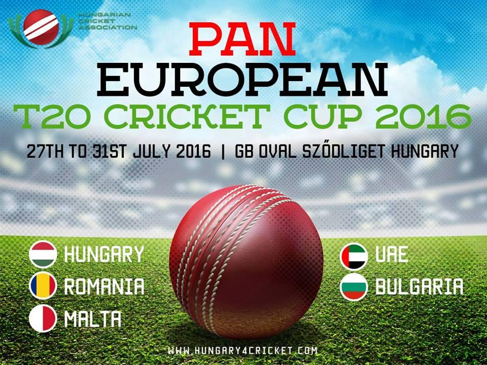 Pan-European T20 Cricket Cup In Hungary, GB Oval Sződliget, 27-31 July