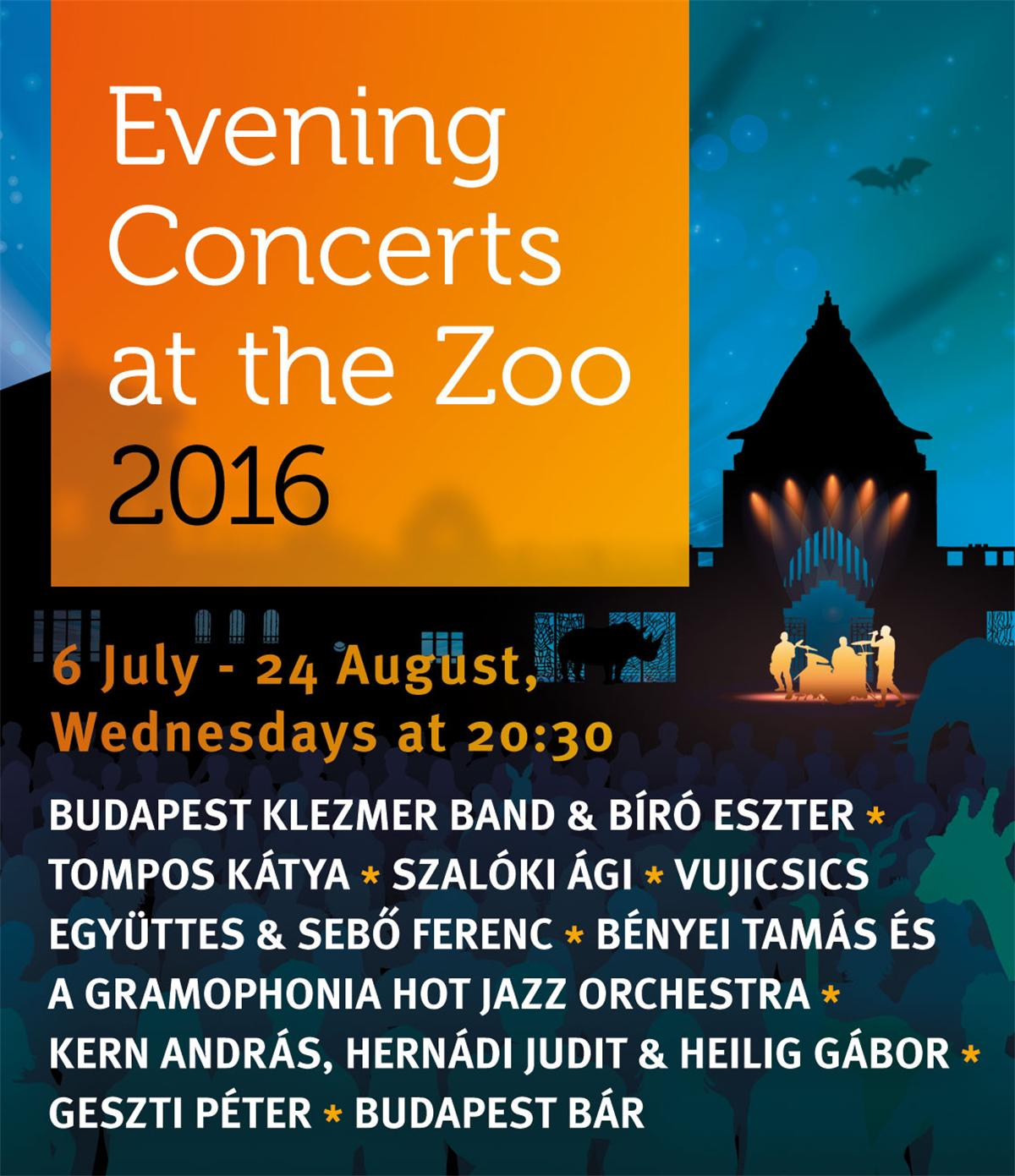 Evening Concerts At Budapest Zoo, 6 July - 24 August