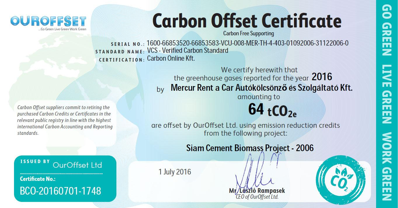 3.7 Million Carbon Neutral Kms With Hertz Car Hire In Order To Reduce Its Carbon Footprint