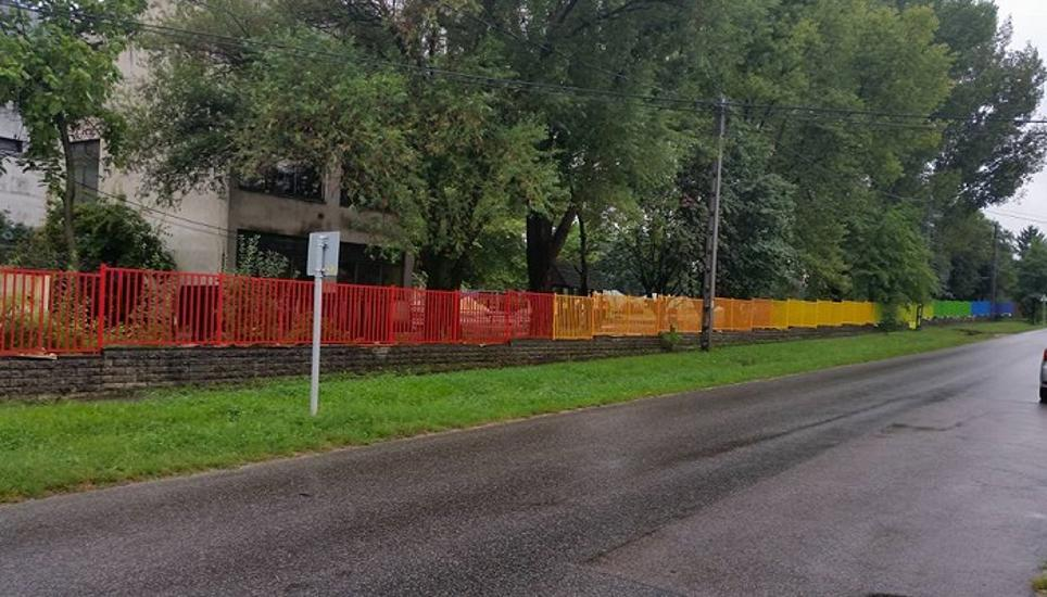 Rainbow-Colored School Fence Subject Of Controversy In Hungary