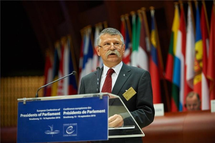 Kövér Addresses Parl Speakers On Migration At Coe Conference