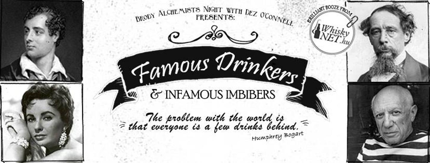 Brody Alchemists Night: 'Famous Drinkers & Infamous Imbibers', 20 Oct