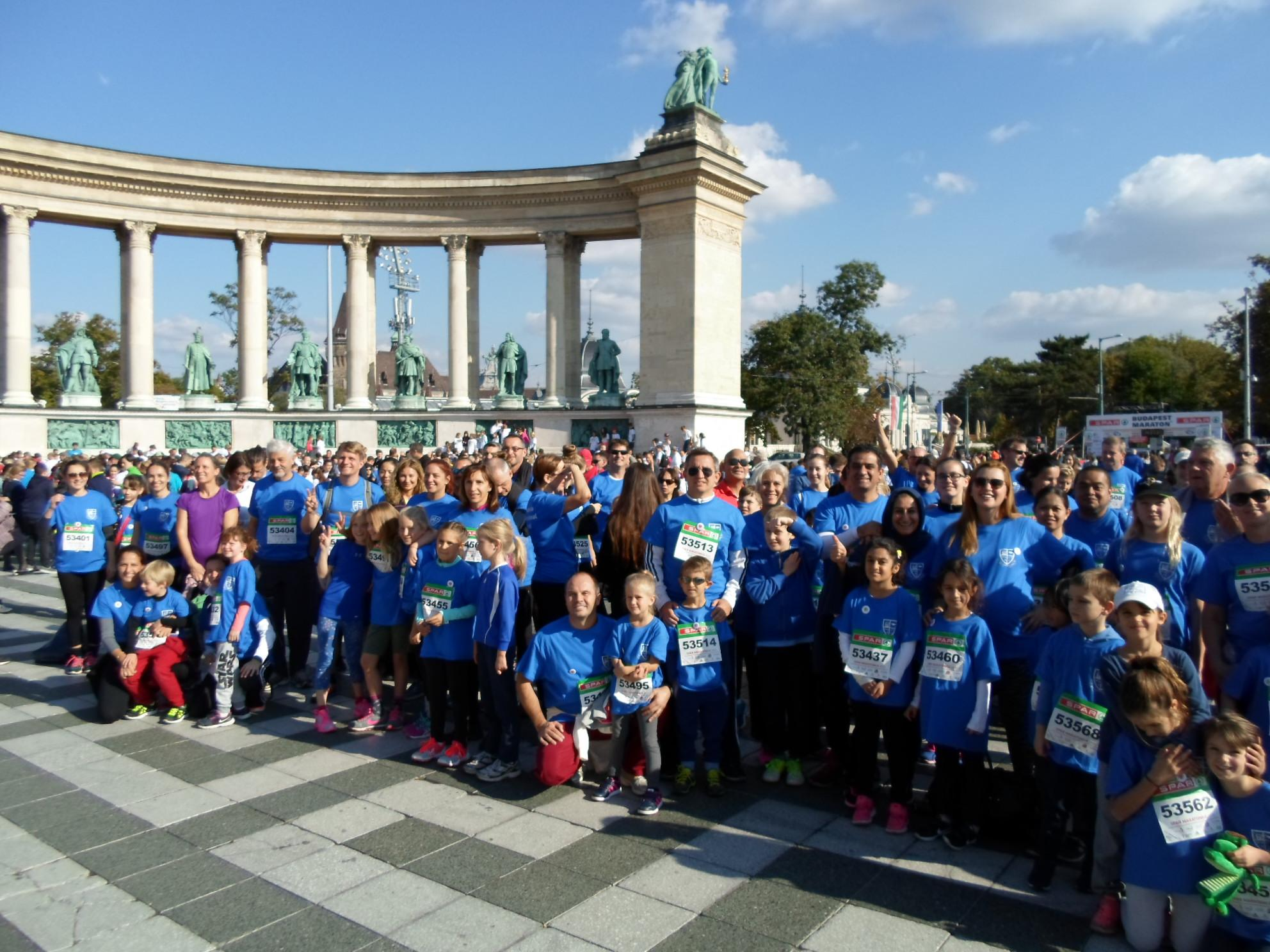 180 Charity Runners From Britannica International School At The Budapest Marathon Festival