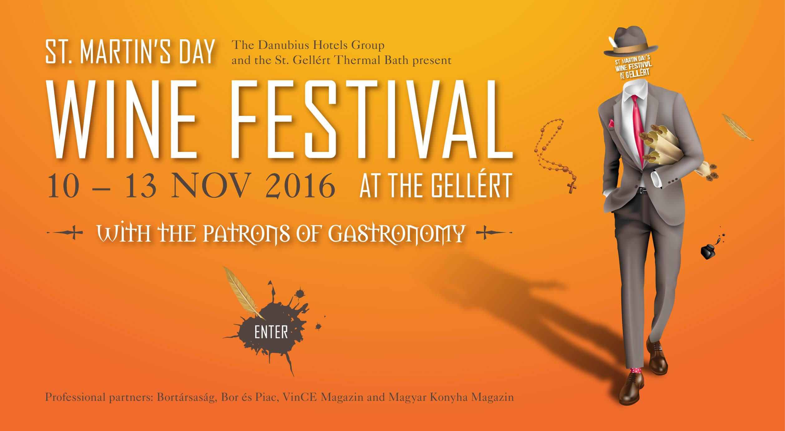 Sold Out: St. Martin's Day Wine Festival, Gellért Hotel, 10 - 13 November