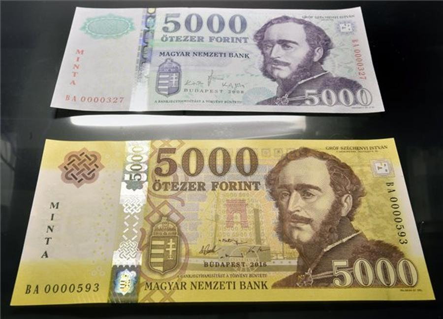 Color-Cycling Hungarian Money - Hungarian 5000 Forint Banknotes Will Be Yellowed